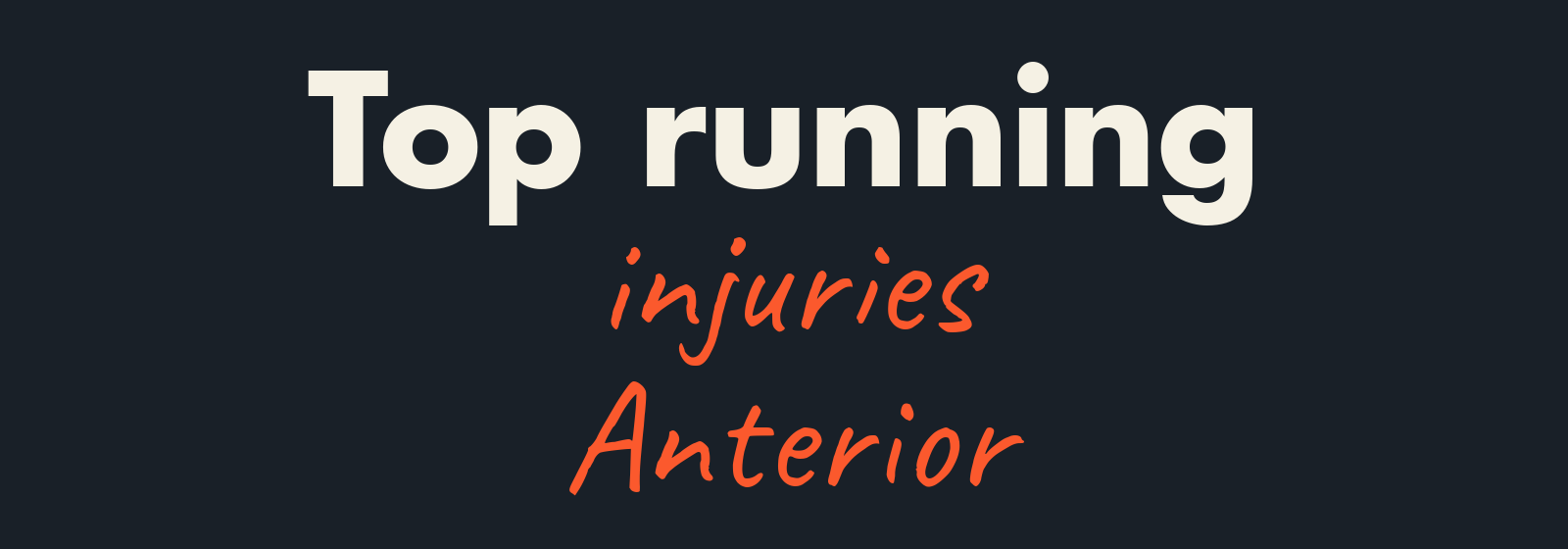Anterior running injuries